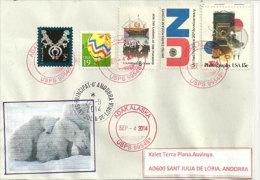 ALASKA.lettre De L´île Adak , îles Aléoutiennes, Mer De Béring, Adressée En Andorre, Avec Timbre à Date Arrivée - Philatélie Polaire