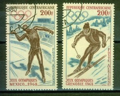 Sort - Lancer Du Javelot, Athlétisme - CENTRAFRIQUE - J.O. Mexico 1968 - Ski Alpin J. O. De Grenoble - Centraal-Afrikaanse Republiek