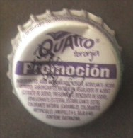 "COLOMBIA-"" QUATRO-TORONJA""  "" -  PROMOCION - BOTTLE CROWN CAP / KRONKORKEN /TAPPI-USED"