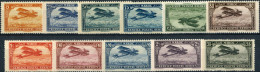 Maroc 1922/26. Michel #38/48 VF/MNH. Aiplanes - Aéreo