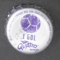 """COLOMBIA-"""" QUATRO"""" - 1 GOL   - BOTTLE CROWN CAP / KRONKORKEN /TAPPI-USED"""