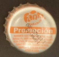 """COLOMBIA-"""" FANTA-NARANJA  """" - PROMOCION   - BOTTLE CROWN CAP / KRONKORKEN /TAPPI-USED"""
