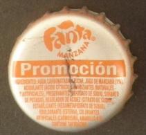 """COLOMBIA-"""" FANTA-MANZANA  """" - PROMOCION   - BOTTLE CROWN CAP / KRONKORKEN /TAPPI-USED"""