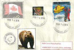 Lettre Postée Au Village De Sandspit. Moresby Island. Archipel De Queen Carlotte, Adressée En Andorre - Briefe U. Dokumente