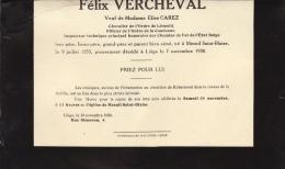 Felix Vercheval Veuf Elise Carez - Overlijden