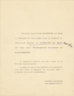 Chevalier Laminne De Bex Elisabeth De Maurissens Chateau De Tinlot Par Soheit - Mariage