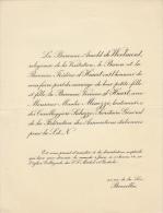 Arnold De Woelmont Baronne Viviane D'huart Manlio Minozzi Lieutenant Cavalerie - Mariage