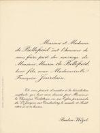 Maurice De Bellefroid Francoise Jourdain Baelen Wezel - Mariage