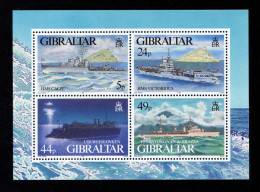 GIBRALTAR 1994 Navires De Guerre N° BF N° 21**  HMS Calpe 727 Victorius 728 USS Weehawken 729 Savorgan De Brazza 730 War - Gibraltar