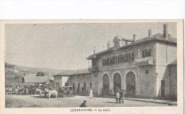 23980 Constantine Algerie -la Gare - Format 7x13 Cm Sans Ed   -attelage - Gares - Sans Trains