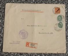D. Reich Schwerin Mecklenburg Einschreiben  #XL519