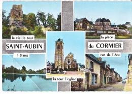 23981 SAINT AUBIN DU CORMIER. Multivues. Multi Vues -ed Chauvelet Billaud Paris -tour Place Ecu Eglise Etang !pliure! - Rennes