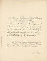 Princesse Isa De Ligne Marquis De Villalobar Y De Guimarey - Mariage