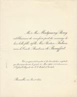 Montgomery Berry Beatrice Falcon Comte Baudoin De Beauffort - Mariage