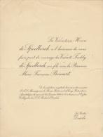 Vicomte Freddy De Spoelberch Baronne Marie Bonaert La Butte Deurle - Mariage