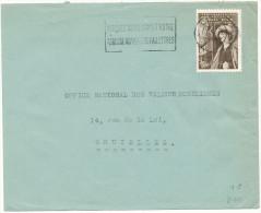 1949 Brief Van Liege 1 Naar Bruxelles  Met PZ 811 -reclamestempel-  !!klein Scheurtje!! Zie Scan(s) - Belgium