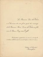 Baronne Marie De Viron Baron Guy Van Eyll Chateau De Wolvendael Brusseghem - Mariage