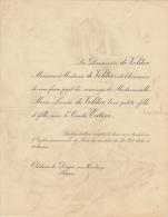 Marie De Volder Comte Esteve Château De Doyon Par Havelange - Mariage