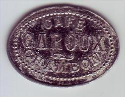 Monnaie De Nécessité - LOIRE 42 - Le Chambon Feugerolles. Café GAROUX. 12 1/2 C - - Monétaires / De Nécessité