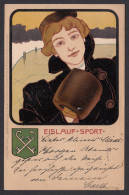 ART POSTCARD - Kunstler Postkarten - Deutcher Sport - Eislauf Sport, Yesr 1900 - Art Nouveau, Secession - 1900-1949