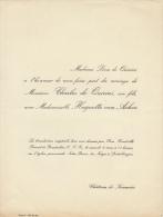 Charles De Quirini Huguette Van Acker Chateau De Keumiée - Mariage