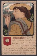 ART POSTCARD - Kunstler Postkarten - Deutcher Sport - Touristik, Yesr 1901 - Art Nouveau, Secession - 1900-1949