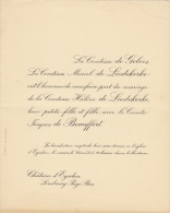 Comtesse Helene De Liedekerke Jacques De Beauffort De Geloes Chateau D'eysden - Mariage
