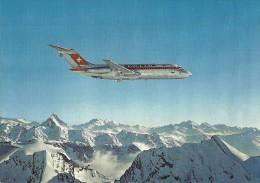 AVION AVIATION DC 9 AU DESSUS DES ALPES SUISSES COMPAGNIE SWISSAIR - 1946-....: Moderne
