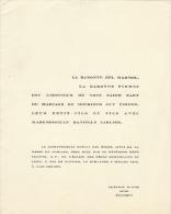 Baronne De Gaiffier D'hestroy Vicomte Le Hardy De Beaulieu Lustin - Mariage