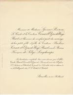 Baron De Selys Longchamps Pauline De Cornet D´elzius De Ways Ruart - Mariage