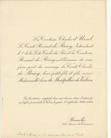 Charles D'ursel Comte Renaud De Briey Anne De Montpellier De Vedrin - Mariage