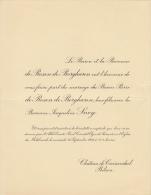 Baron Pierre De Rosen De Borgharen Baronne Jacqueline Snoy Chateau De Groenendael Bilsen - Mariage