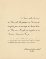 Baron Pierre De Rosen De Borgharen Baronne Jacqueline Snoy Chateau De Groenendael Bilsen - Wedding