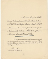 Joseph Melot Ministre Therese Et Andre De Grand Ry - Mariage