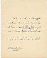 Comte Jacques De Beauforts Comtesse Helene De Liedekerke Château De Loyers Nameche - Mariage