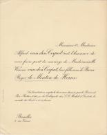 Winnie Van Den Corput Baron Roger De Menten De Horne - Mariage