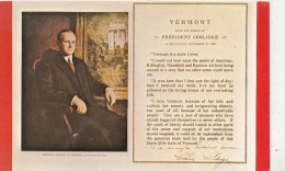 BF26808 Vermont President Coolidge  USA   Front/back Image - Etats-Unis