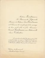 Baronne De Lapointe Gerard Zurstrassen Anne Terlinden Chateau De Joncmesnil Lambermont - Mariage