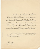 Baron De Menten De Horne Winnie Van Den Corput - Mariage