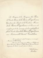 Comte De La Barre D'erquelinnes Chantal Gendebien Les Viviers Jurbise - Mariage