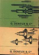 Lot De 2 Catalogues De « EBAUCHES SA à 2001 NEUCHATEL Suisse » Distribués Par G. Deneux Et Cie à Charleroi - Bijoux & Horlogerie