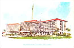 OLD GREETINGS CARD - PRINTED IN SRI LANKA - SEASON'S GREETINGS FROM TAJ SAMUDRA HOTEL, COLOMBO, IMPRINT SIGNATURES - Tourism