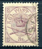 DENMARK 1864 Wmk Perf.13 - Yv.12 (Mi.12, Sc.12) Used (perfect) VF - Oblitérés