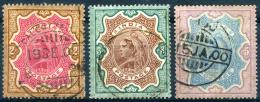 INDIA 1895 - Yv.49-51 (Mi.45-47, Sc.50-52) Used (perfect) VF - 1882-1901 Imperium