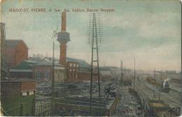 Haine- ST. Paul :  Soc. An. Ateliers  Baume Morpent ( Gare )( Ecrit 1919 Avec Timbre ) Stoomtrein - Train A Vapeur - Belgique