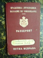 Passeport-Kingdom Of Yugoslavia-Serbia-Romania -Hungary-1936   (2827) - Documenti Storici