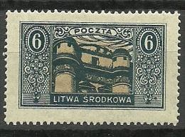 LITAUEN Lietuva Lithuania 1921 Mittellitauen Central Lithuania Michel 39 A MNH - Litauen