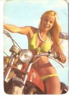 CALENDARIO DEL AÑO 1975 DE UNA CHICA SEXI (NUDE) (CALENDRIER-CALENDAR) MOTO MONTESA - Calendarios
