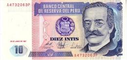 Peru P.129 10 Intis 1987 Unc - Peru