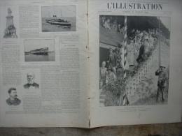 L�ILLUSTRATION 2994 CHINE/ GARE D�ORLEANS A PARIS/ NEW YORK / BORDEAUX /  OUVERTURE DU METROPOLITAIN/ EXPOSITION  14 jui